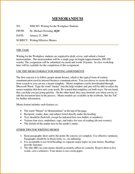 Business Letter And Memo Writing sle resume how to format a business memo resume daily