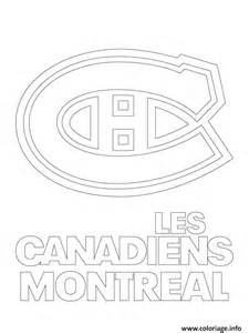 coloriage les canadiens montreal habs logo lnh nhl hockey sport1 jecolorie
