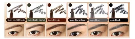 100 Original My Brows Color Eyebrow Mascara Etude House etude house drawing eye brow eyebrow pencil light brown gray black 6 colors ebay