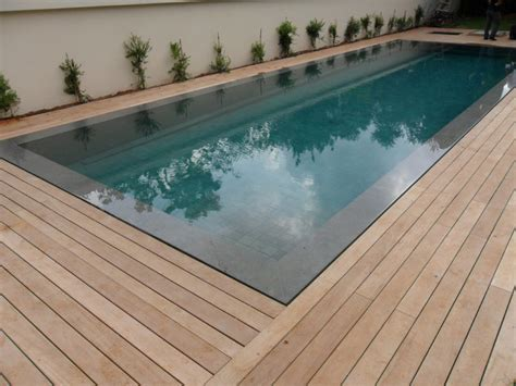swimming pool decking burmese teak swimming pool deck with hidden fasteners modern deck tel aviv by shepherds