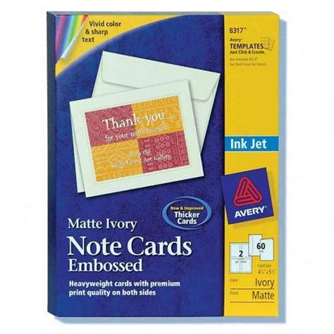Avery Note Card Templates 8317 by Printer