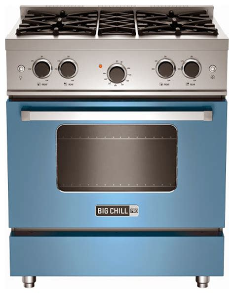 big chill appliance reviews big chill pro range in blue gas ranges and