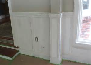 chair rail wainscoting how to install chair rail with flat panel wainscoting