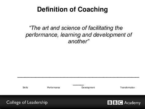 meaning of couching executive coaching in the bbc