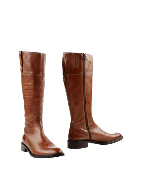 Boot Heels Replika Vic 571 progetto boots in brown lyst