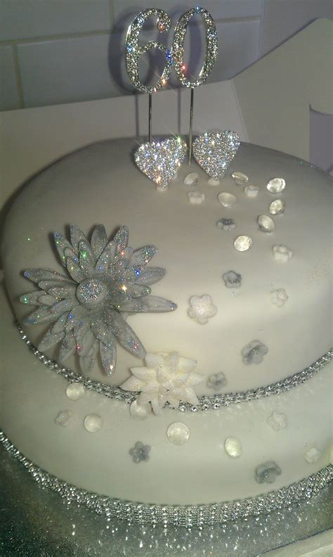 60th wedding anniversary cake party ideas diamond