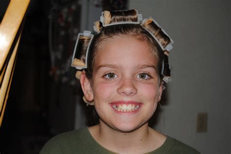 she set his hair in curlers a marine all his girls curlers galore