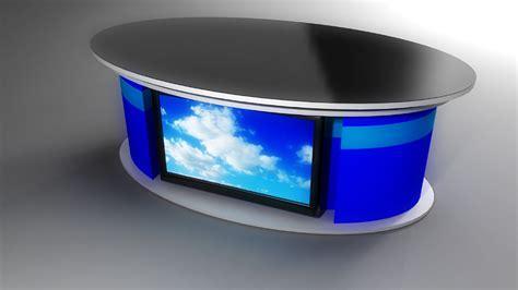News Studio Desk by Tv Set Designs News Desks