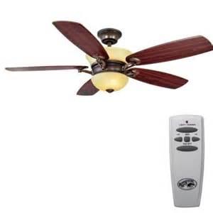 Hampton Bay Dual Ceiling Fan Hampton Bay Minorca 52 In Indoor Gilded Mahogany Ceiling