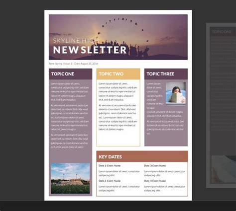 newsletter free templates 25 best ideas about newsletter template free on