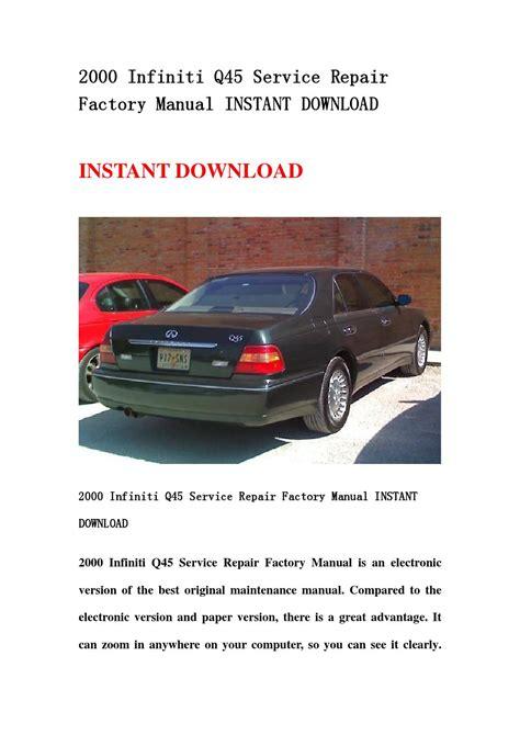 repair anti lock braking 2000 infiniti q transmission control 2000 infiniti q45 service repair factory manual instant download by kaimen issuu