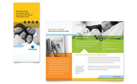 brochure templates design home security systems brochure template design