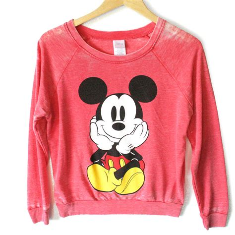Sweater Mickey Mouse disney mickey mouse front back distressed