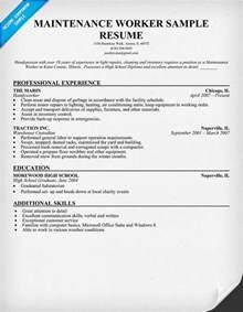 Maintenance Resume Objective Examples Recentresumes Com