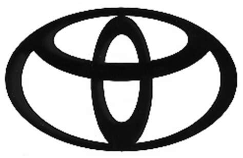 Black Toyota Emblem Decal Auto Manufacturer Toyota Logo Large 22 1 2 Quot X 14