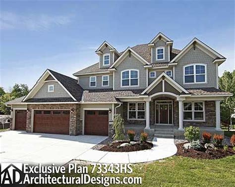 storybook house plan with 4 car garage
