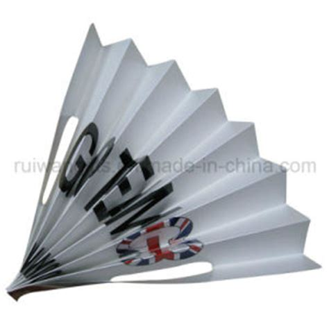 How To Make A Paper Clapper - china folding paper clapper banner fan for fab006