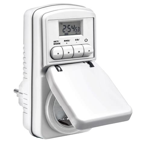 Electronic Timer Waterproof Wt001 taffware digital timer switch with ip44 waterproof wt001 white jakartanotebook