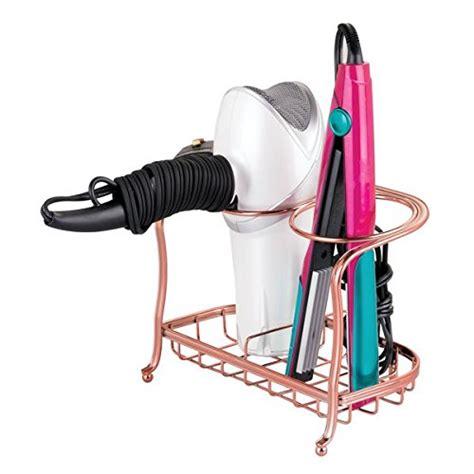 York Lyra Hair Dryer Flat Iron Holder interdesign york lyra countertop care tools holder for hair dryer flat iron curling wand