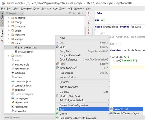 tutorial php unit testing phpunit laravel how to setup laravel with phpunit on vagrant in phpstorm
