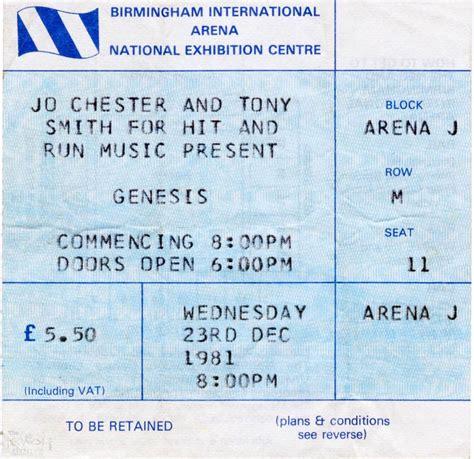 genesis tickets genesis ticket the nec birmingham 23rd december