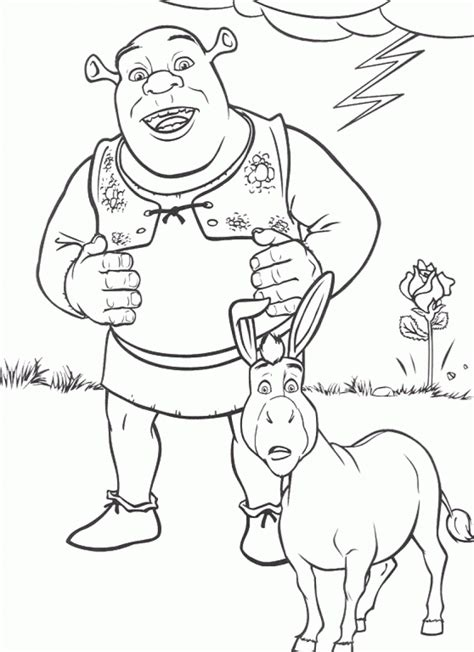 Shrek Coloring Pages Online | free printable shrek coloring pages for kids