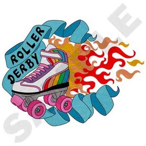 roller derby pattern roller derby embroidery design annthegran