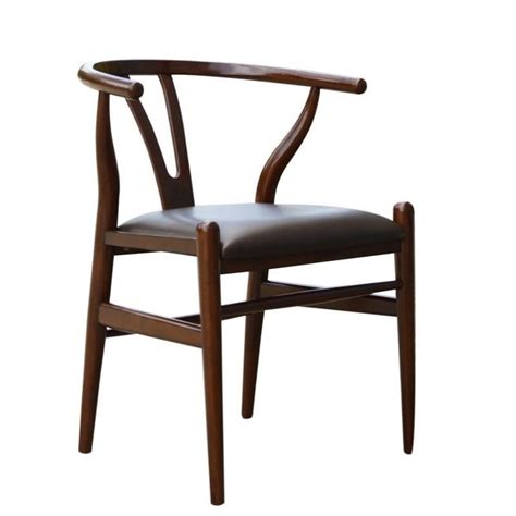 Boraam Wishbone Dining Chair In Walnut Finish Ebay Wishbone Dining Chairs