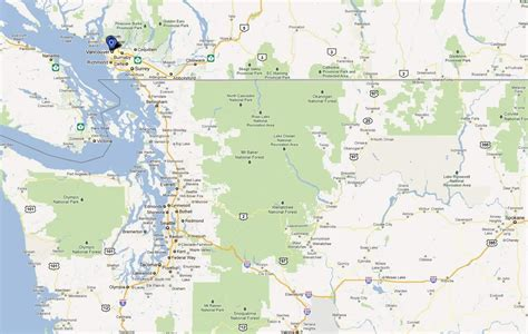 vancouver usa map seattle vancouver map map of seattle and vancouver