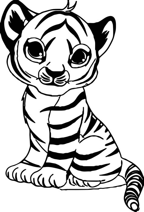 tiger color baby tiger coloring pages free coloring for 2019
