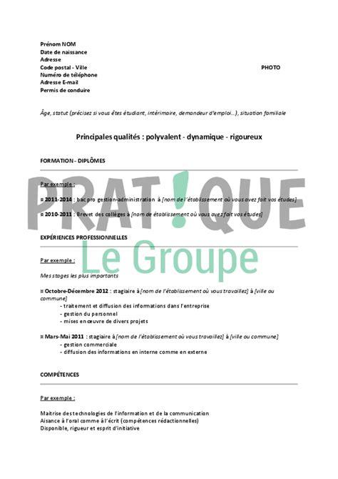 Exemple Lettre De Motivation Zadig Et Voltaire modele cv etudiant stage