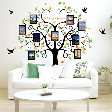 decorative decals for home diy home family decor photo tree removable decal wall