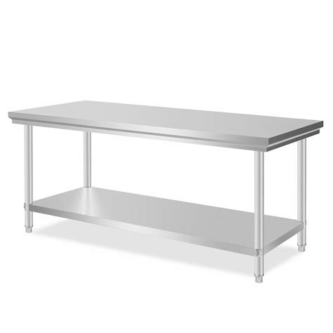 76x180cm kitchen work prep table business prep sink