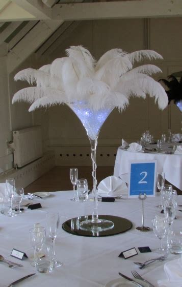 Ostrich Feather Centrepieces By Best Wishes  Ee  Wedding Ee   Hire