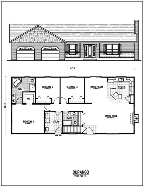 small modern house plans with garage modern house
