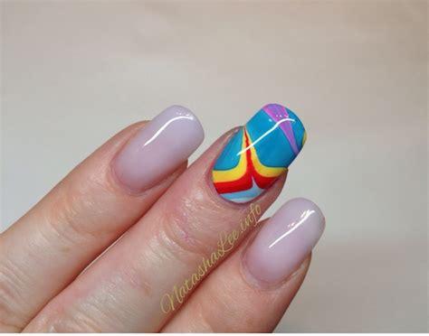 easy nail art marble easy water marble nail art with nail polish natasha lee