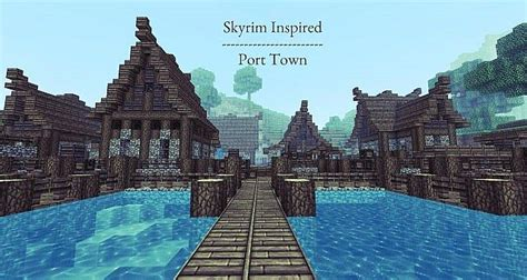 port town nordic port town minecraft project