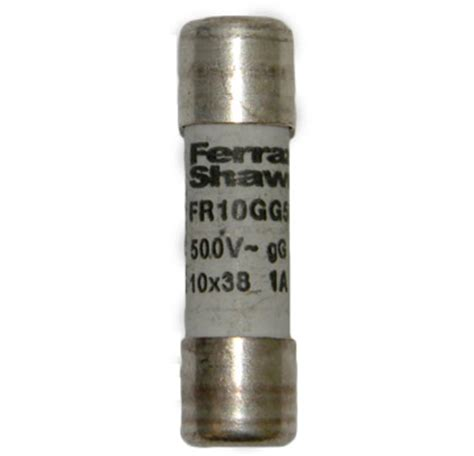 10 500 volt ceramic fuse fr10gg50v1 shawmut general purpose fuse 1 500v