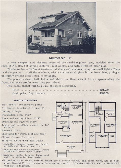 ready made house plans 1910s bungalow kit homes by ready built house company no