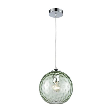 hammered glass pendant light titan lighting watersphere 1 light polished chrome with