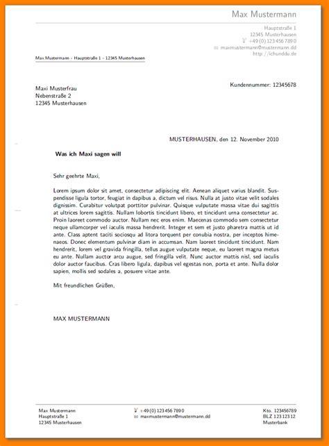 Anschreiben Briefformat Briefkopf Bewerbungsanschreiben Reimbursement Format