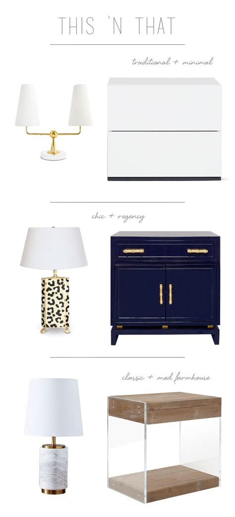 Interiors Of Home Lamp And Nightstand Pairings For The Bedroom Via Coco
