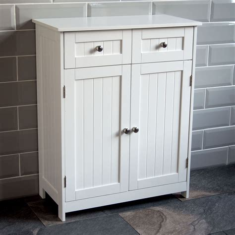 Cupboard With Doors - priano bathroom cabinet 2 drawer 2 door storage cupboard