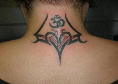 tribal om tattoo 63 realistic tribal neck tattoos