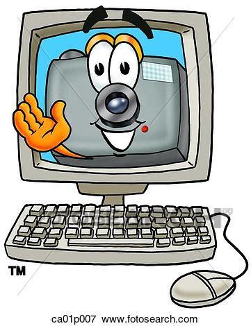 clipart macchina fotografica macchina fotografica in computer clip ca01p007