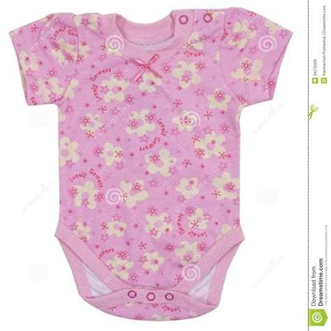 pink pattern romper pink romper isolated on white royalty free stock images