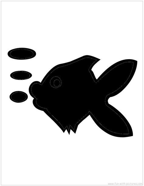 Silhouette Picture Fish Bubbles