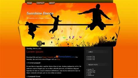 Blogger Themes Dance | sunshine dance blogger template btemplates