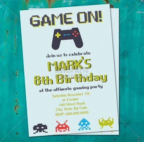 free printable birthday invitations video games printable video game birthday invitation