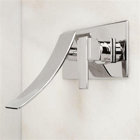 wall mount bathroom faucet reston wall mount waterfall bathroom faucet bathroom